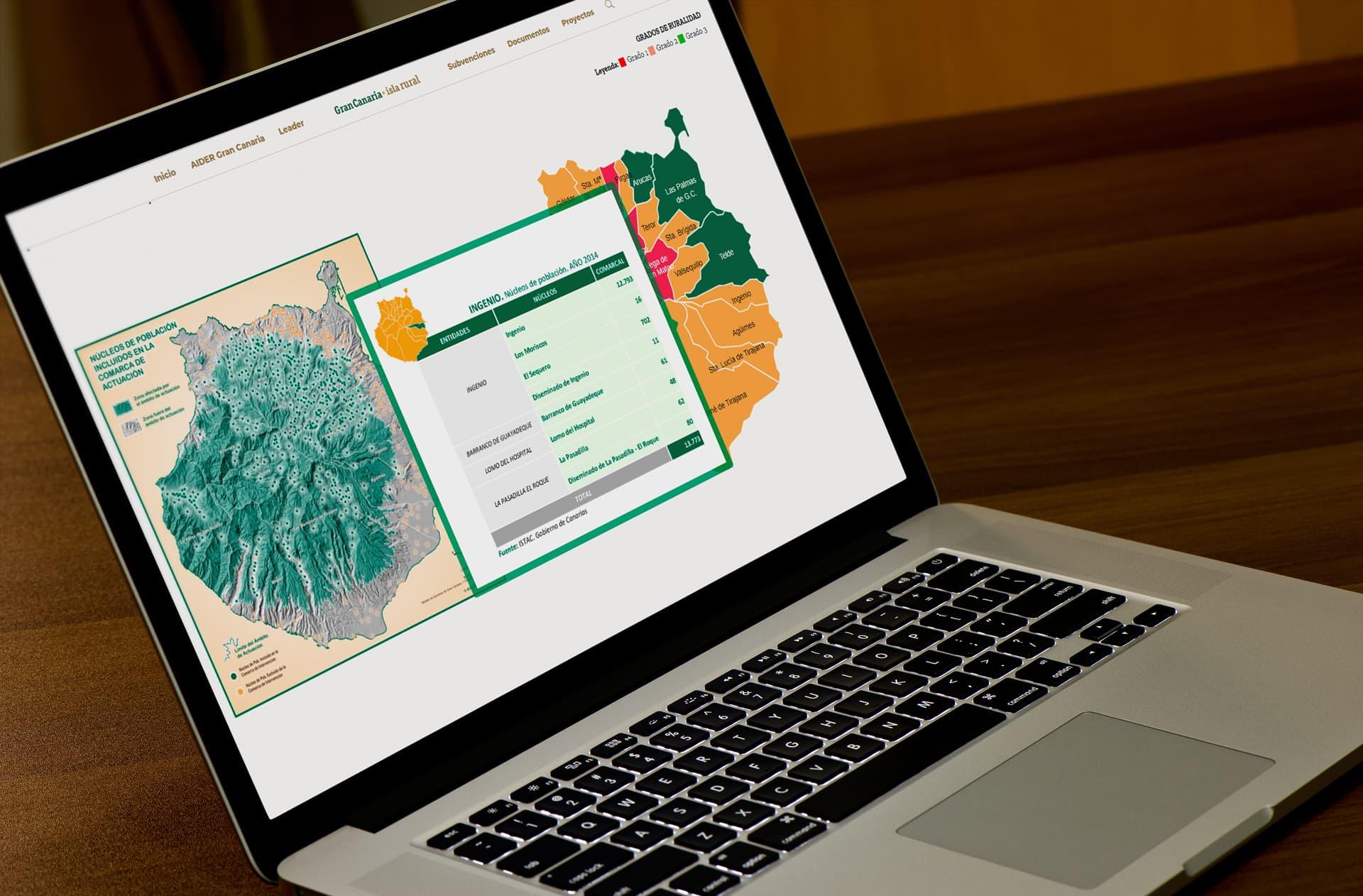 aqia nuestro trabajo gráfica web