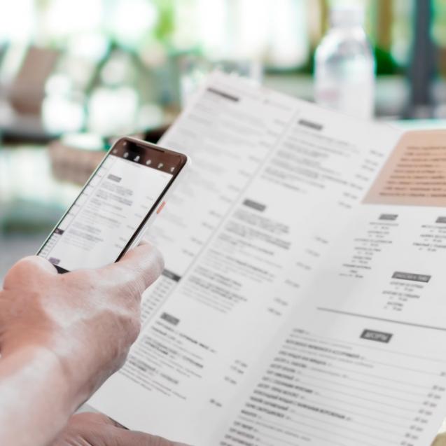 menu digital para restaurantes
