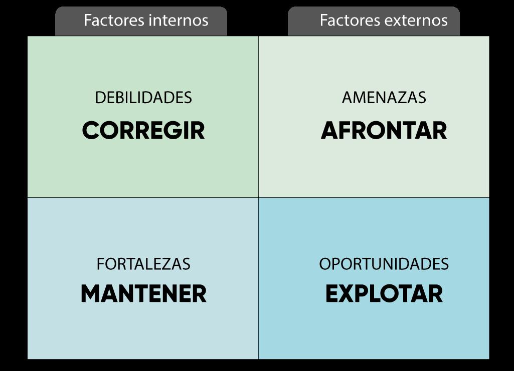 análisis-CAME paso posterior al análisis dafo